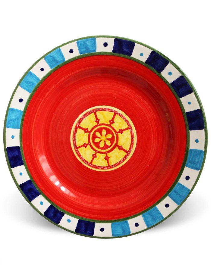 Piatti decorati Paladini in ceramica artistica siciliana