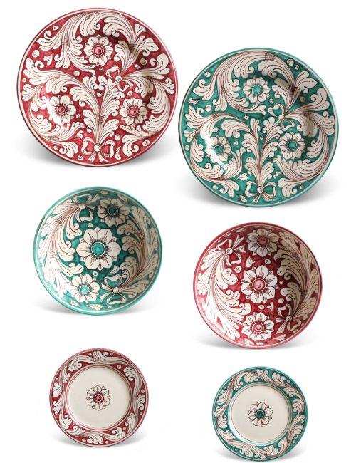 Marzapane Caltagirone ceramic decorated plates