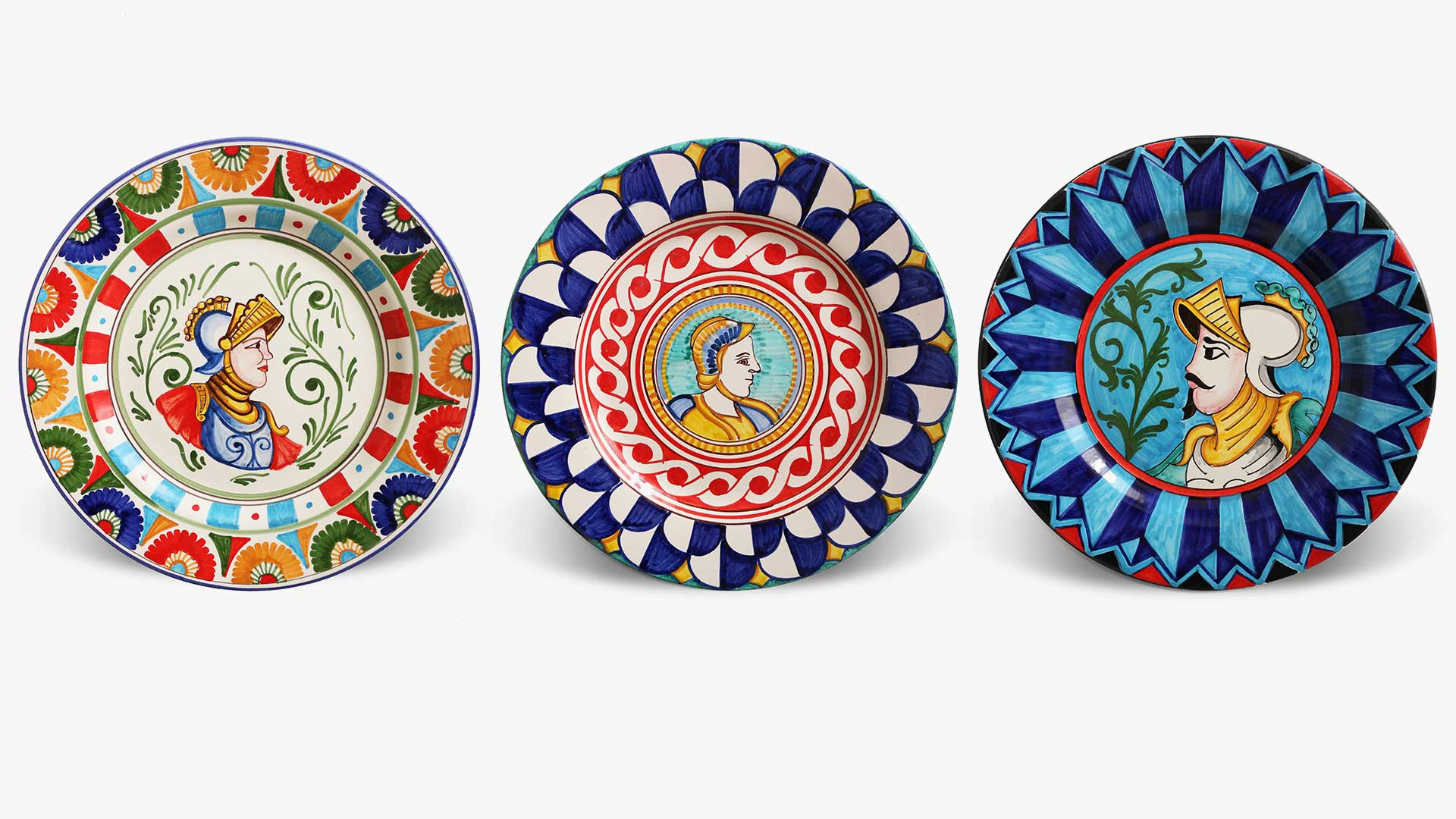 decorated ceramic plates-Paladini collection