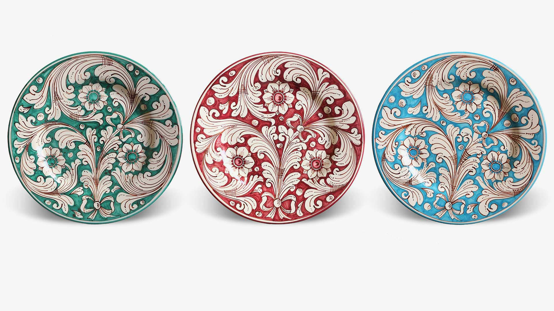 decorated ceramic plates-Marzapane collection