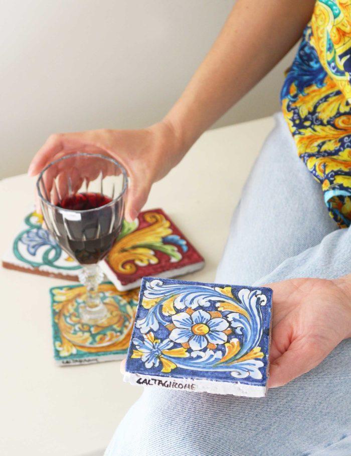 Maioliche in ceramica siciliana decorata