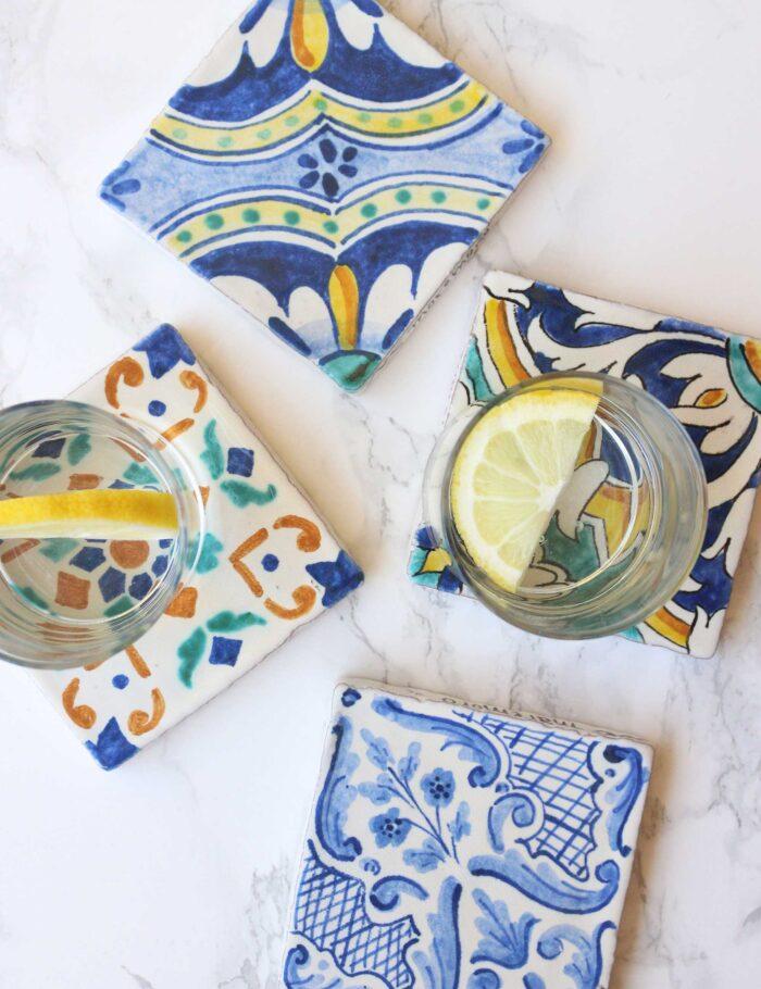 Maioliche in ceramica siciliana decorata Maremoro