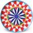 Piatto da portata in ceramica decorata di Caltagirone-carretto Tiralloru