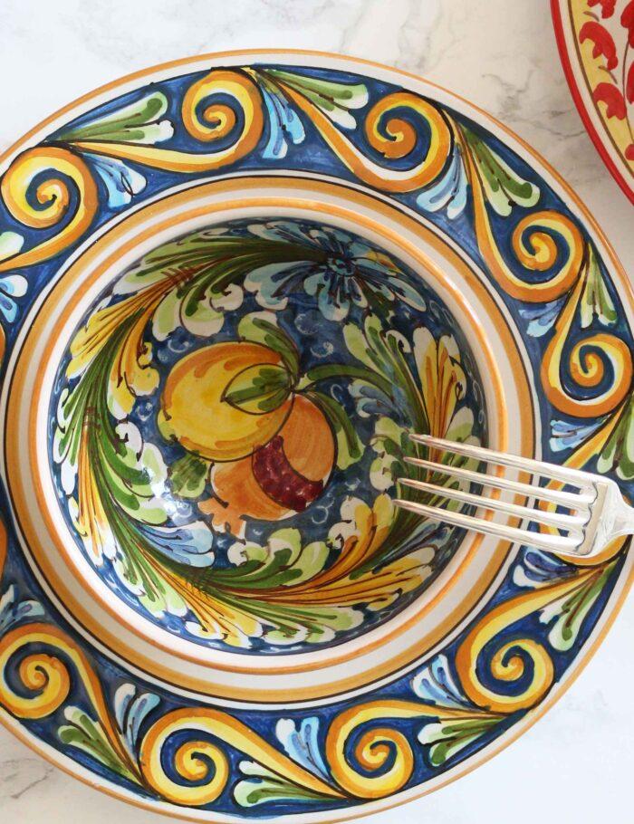 Coppe in ceramica decorata siciliana Maremoro