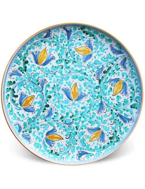 Piatto da portata in ceramica siciliana decorata di Caltagirone