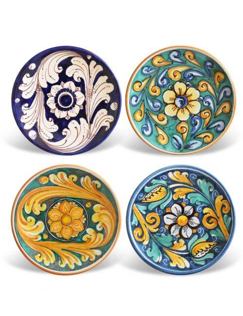 Piattini in ceramica decorata siciliana