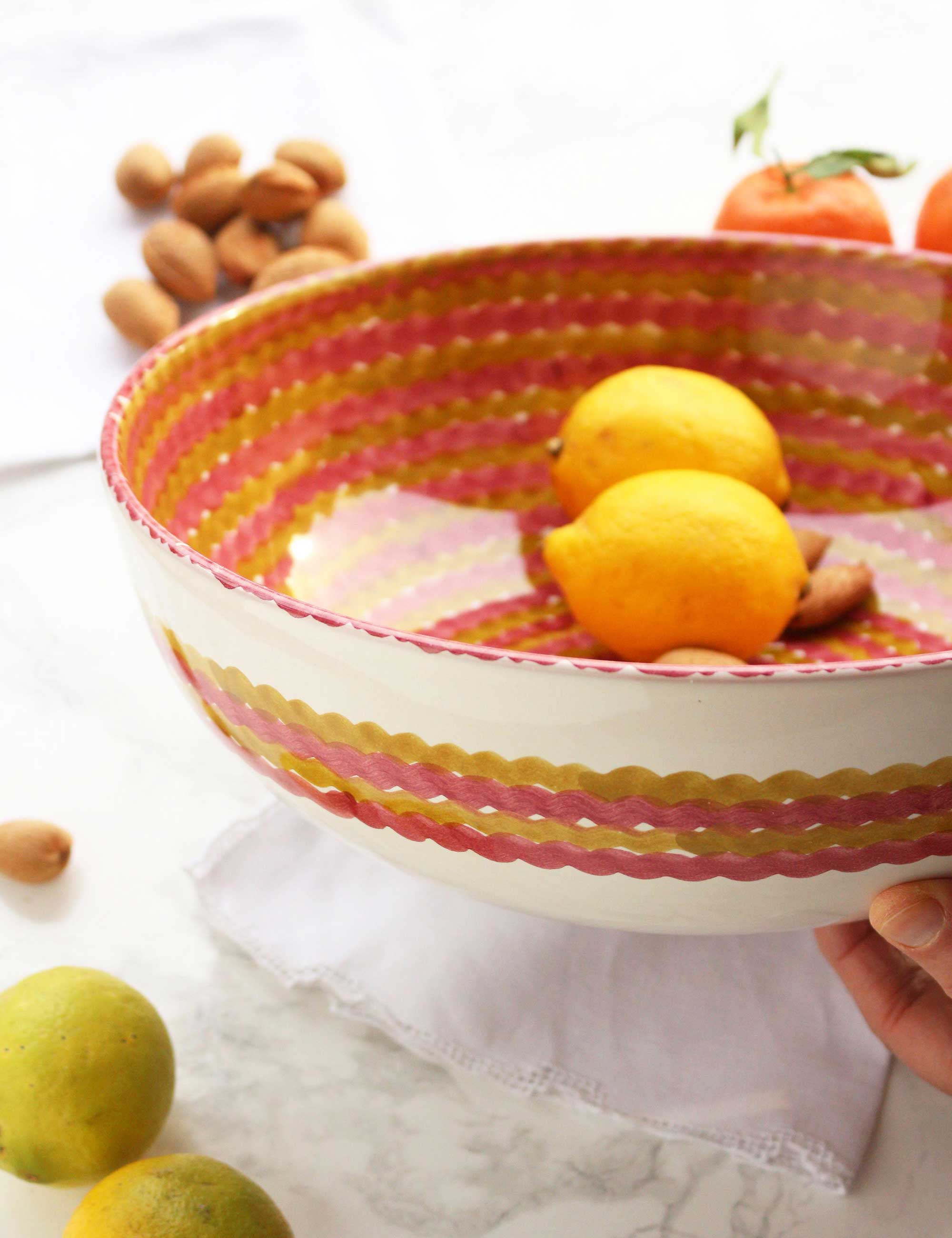 Insalatiera in ceramica siciliana decorata Mediterra