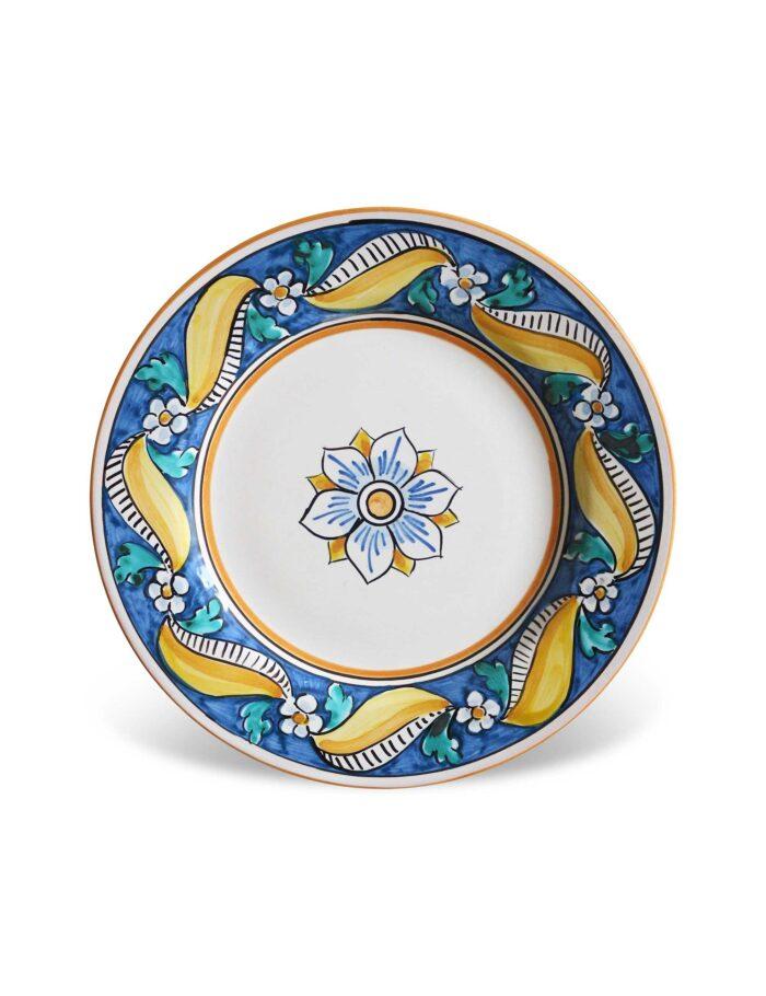 Piatto da dessert in ceramica siciliana