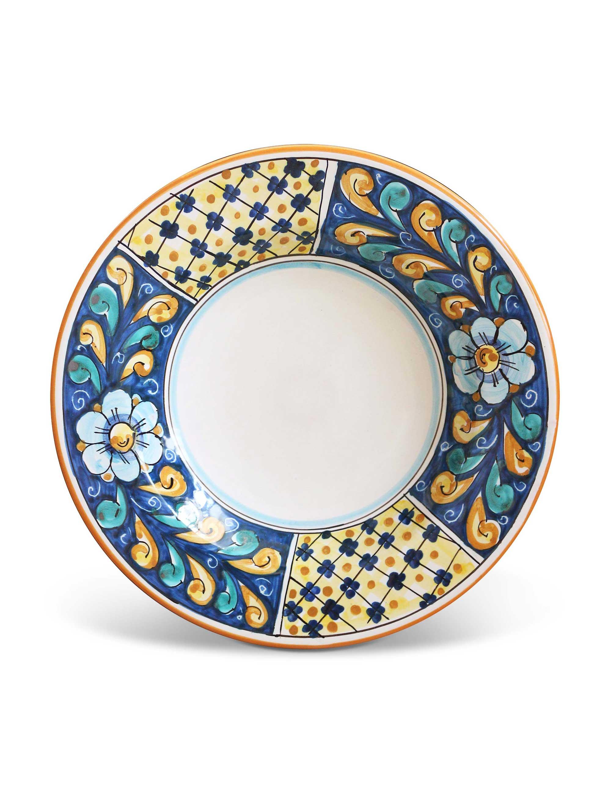 Piatto fondo in ceramica siciliana