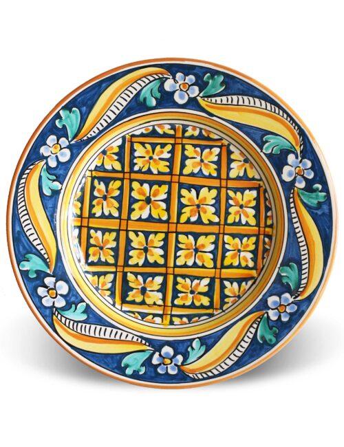 Piatto piano in ceramica artigianale siciliana