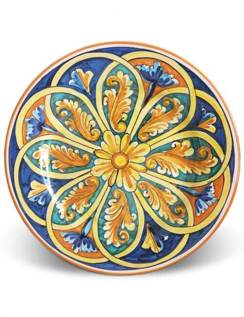 Piatto piano in ceramica siciliana